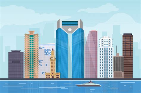 Art Deco City Illustration - Gallery of Arts and Crafts