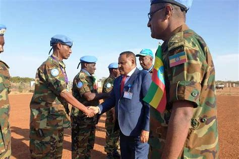 Ethiopian Troops Serving With UNISFA Receive Medals