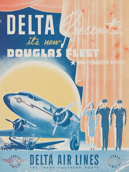 Vintage posters of American airline companies