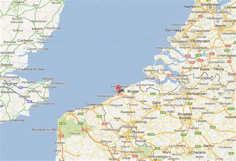 Oostende Map and Oostende Satellite Image