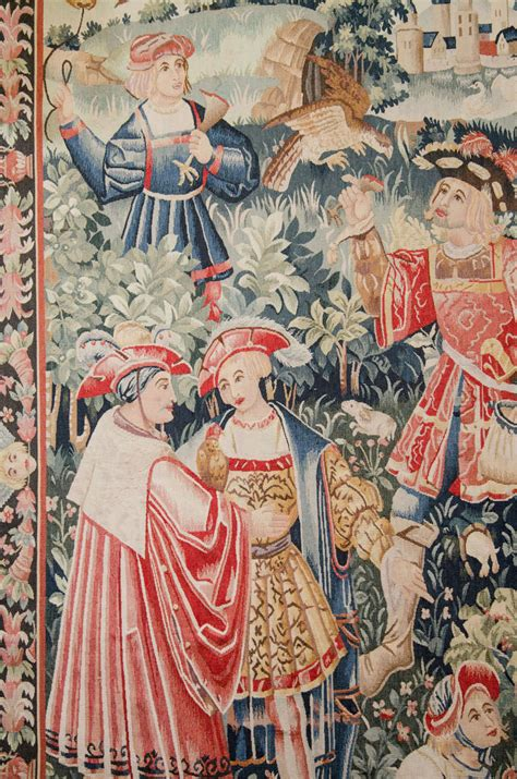 A Vintage Tapestry with Medieval Themes at 1stdibs