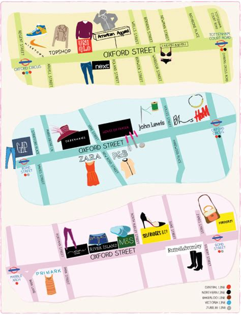 Map of Oxford Street London – Download street map – Time