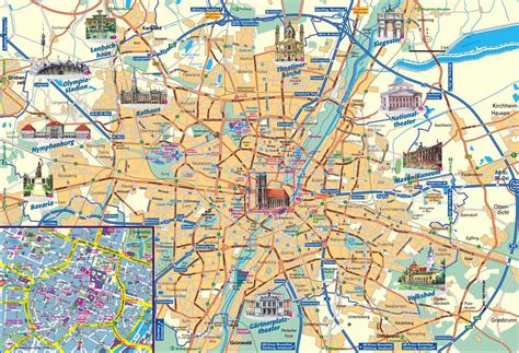 Munich Attractions Map PDF - FREE Printable Tourist Map