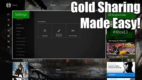 How to Set Up Game Sharing & Gold Sharing on Xbox One